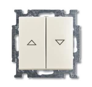 1413-0-1102 (2026/4 UC-96) BJB Basic 55 Шале (бел) Выключатель жалюзийный кнопочный