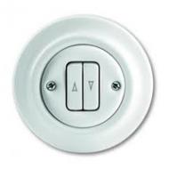 1413-0-1089(2022/4UJ-64) Decento Выключатель жалюзийный кнопочный 10А, в сборе