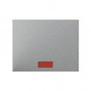 """14157024 Выключатель 1-клавишный с подсветкой, Цвет:""""алюминий"""""""