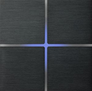 Sentido  лицевая панель, четырехклавишный, цвет серый арт.202-02
