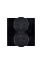 1590457-032 15 Чёрный Розетка 2-я 2Р, 16А, 250В, винт.заж.