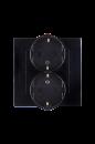 1590459-032 15 Чёрный Розетка 2-я 2Р+Е Schuko, 16А, 250В, винт.заж.