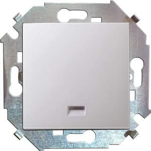 1591104-030 15 Белый Выключатель 1-кл с подсветкой, 16А, 250В, винт.заж.