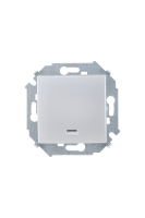 1591104-033 15 Алюминий Выключатель 1-кл с подсветкой, 16А, 250В, винт.заж.