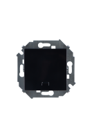 1591160-032 15 Чёрный Кнопка клавишная с подсветкой, 16А, 250В, винт.заж.