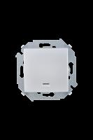 1591160-033 15 Алюминий Кнопка клавишная с подсветкой, 16А, 250В, винт.заж.