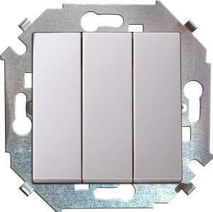 1591391-030 15 Белый Выключатель 3-кл, 10А, 250В, винт.заж.
