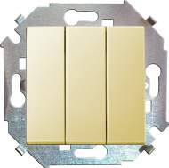 1591391-031 15 Бежевый Выключатель 3-кл, 10А, 250В, винт.заж.
