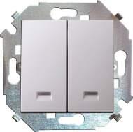 1591392-030 15 Белый Выключатель 2-кл с подсветкой, 16А, 250В, винт.заж.