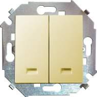 1591392-031 15 Бежевый Выключатель 2-кл с подсветкой, 16А, 250В, винт.заж.
