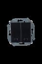 1591392-032 15 Чёрный Выключатель 2-кл с подсветкой, 16А, 250В, винт.заж.