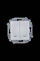 1591392-033 15 Алюминий Выключатель 2-кл с подсветкой, 16А, 250В, винт.заж.
