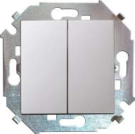 1591397-030 15 Белый Выключатель 2-кл проходной (переключатель), 16А, 250В, винт.зажим
