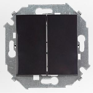 1591397-032 15 Чёрный Выключатель 2-кл проходной (переключатель), 16А, 250В, винт.заж.
