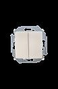 1591397-034 15 Шампань Выключатель 2-кл проходной (переключатель), 16А, 250В, винт.заж.