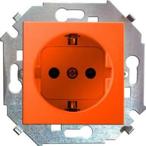 1591432-037 15 Красный Розетка 2P+E Schuko, 16А, 250В, винт.заж.