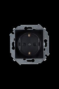 1591443-032 15 Чёрный Розетка 2P+E Schuko, со шторками, 16А, 250В, винт.заж.