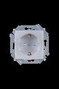 1591443-033 15 Алюминий Розетка 2P+E Schuko, со шторками, 16А, 250В, винт.заж.
