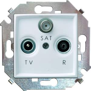 1591466-030 15 Белый Розетка R-TV-SAT одиночная, винт.заж.