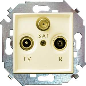 1591466-031 15 Бежевый Розетка R-TV-SAT одиночная, винт.заж.