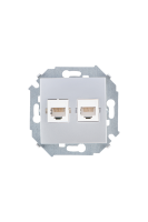 1591593-033 15 Алюминий Розетка компьютерная 2-я RJ45 кат.5е