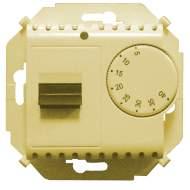 1591775-031 15 Бежевый Регулятор для тёплого пола, с зондом, 16А,230В,3600Вт, 5-40град,IP20