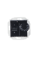 1591775-032 15 Чёрный Регулятор для тёплого пола, с зондом, 16А, 230В, 3600Вт, 5-40град, IP20