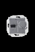1591775-033 15 Алюминий Регулятор для тёплого пола, с зондом, 16А, 230В, 3600Вт, 5-40град, IP20