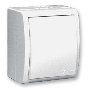 1594101-03015 Aqua Белый Выключатель 1-клавишный наружный,IP54
