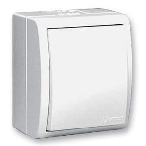 1594104-03015 Aqua Белый Выключатель 1-клавишный с/п наружный,IP54
