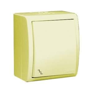 1594204-03115 Aqua Бежевый Переключатель 1-клавишный с/п наружный, IP54