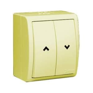 1594332-03115 Aqua Бежевый Выключатель жалюзийный с электрической блокировкой, наружный, IP54