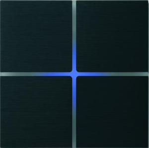 Sentido  лицевая панель, четырехклавишный, цвет черный арт.202-03
