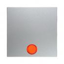 """16211404 Выключатель 1-клавишный с подсветкой, Цвет:""""алюминий"""""""