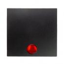 """16211606 Выключатель 1-клавишный с подсветкой, Цвет:""""антрацит"""""""