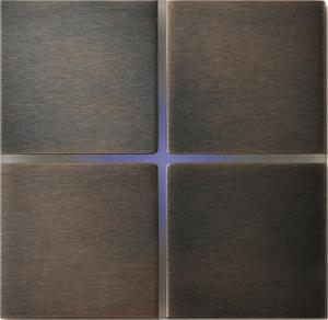Sentido  лицевая панель, четырехклавишный, цвет бронза арт.202-05