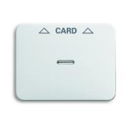 1710-0-3297 (1792-24G-101) BJE Alpha Nea/Exl Бел глянц Накладка карточного выключателя (мех 2025 U)