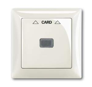 1710-0-3937 (1792-96) BJB Basic 55 Шале (бел) Накладка карточного выключателя(мех. 2025U)
