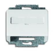 1724-0-2067 (1758-24G) BJE Alpha Nea/Exl Бел глянц Накладка с суппортом для коммуникационных разъёмов