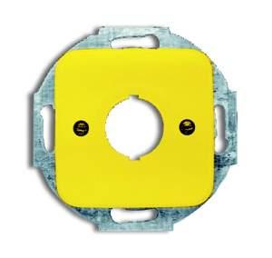 1724-0-2696 BJE Reflex SI Жёлтый Плата центральная (накладка) с суппортом для командно-сигнальных приборов