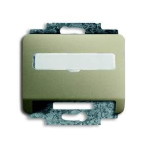 1724-0-2793 (1758-260) BJE Alpha Nea/Exl Палладий Накладка с суппортом для коммуникационных разъёмов