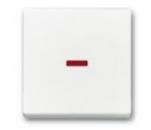 1751-0-3073 BJE Solo/Future Бел Клавиша для механизма 1-кл. выкл./перекл./кнопки с крас.линзой