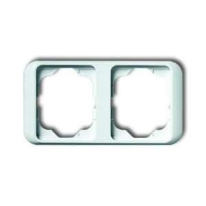 1754-0-4511 (1754-0-2700) BJE Alpha Nea Бел глянц Рамка 2-ая гориз