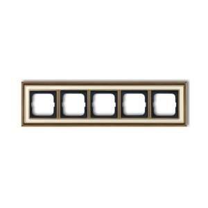 1754-0-4584 (1725-848-500) BJE Династия Античная латунь/Белое стекло Рамка 5-ая