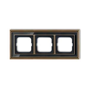 1754-0-4587 (1723-845-500) BJE Династия Античная латунь/Черное стекло Рамка 3-ая