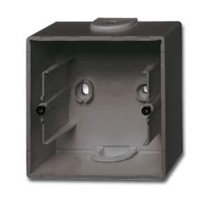 1799-0-0965 (1701-95) BJB Basic 55 Шато (чёрн) Коробка для открытого монтажа, 1-постовая
