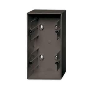1799-0-0966 (1702-95) BJB Basic 55 Шато (чёрн) Коробка для открытого монтажа, 2-постовая