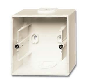 1799-0-0968 (1701-96) BJB Basic 55 Шале (бел) Коробка для открытого монтажа, 1-постовая