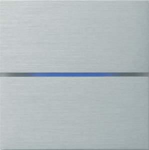 Sentido  лицевая панель, двухклавишный, цвет алюминий арт.201-01
