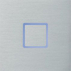 Tacto лицевая панель, закрытая, алюминий арт.111-01